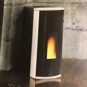 Vicenza Pellet Stove V3.4W White $1,999. – 26% IRS Tax Credit Approved